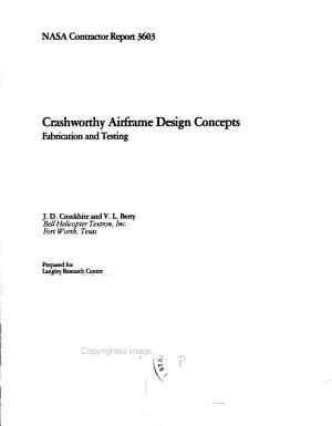 Crashworthy airframe design concepts