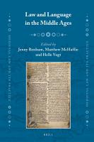 Law and Language in the Middle Ages PDF