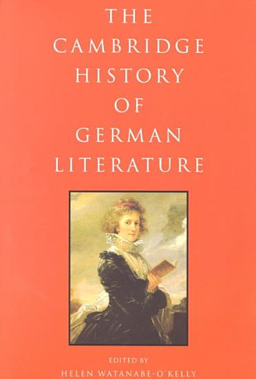 The Cambridge History of German Literature PDF