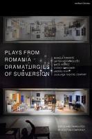 Plays from Romania  Dramaturgies of Subversion PDF