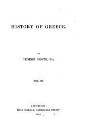 History of Greece: Volume 11
