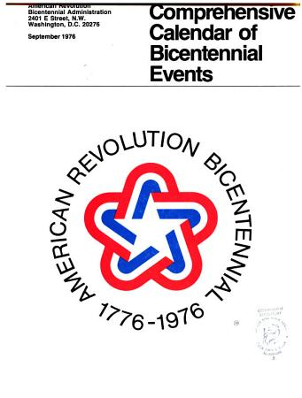 Comprehensive Calendar of Bicentennial Events  September 1976 PDF