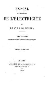 Applications mécaniques de l'électricité
