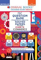 Oswaal ISC Question Bank Class 12 Commerce Book Chapterwise   Topicwise  For 2022 Exam  PDF