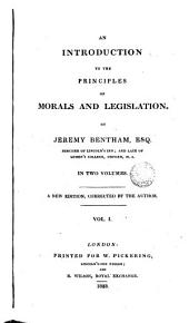 An Introduction to the Principles of Morals and Legislation, 1