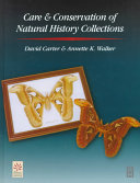 Care and Conservation of Natural History Collections