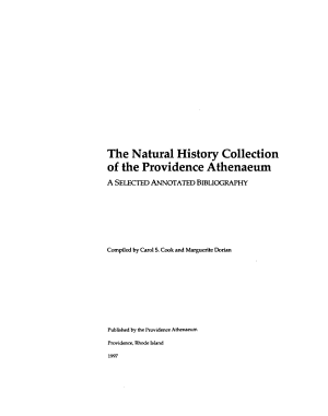 The Natural History Collection of the Providence Athenaeum