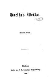 Goethes Werke: Bände 9-10