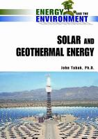 Solar and Geothermal Energy PDF