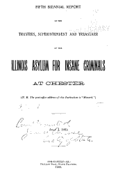 Biennial Report of the Managing Officer of the Chester State Hospital at Chester: Volume 5