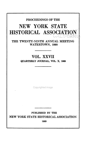 The Quarterly Journal of the New York State Historical Association PDF