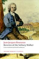 Reveries of the Solitary Walker PDF