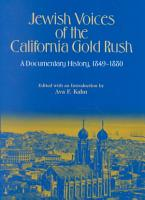 Jewish Voices of the California Gold Rush PDF