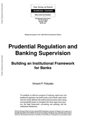 Prudential Regulation and Banking Supervision PDF