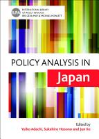 Policy analysis in Japan PDF