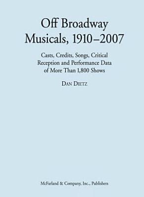 Off Broadway Musicals  1910   2007