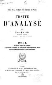 Traité d'analyse: Intégrales simples et multiples. L'équation de Laplace et ses applications. Développements en séries. Applications géométriques du calcul infinitésimal