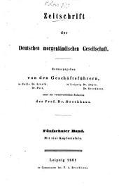 Zeitschrift der Deutschen Morgenländischen Gesellschaft: ZDMG, Band 15