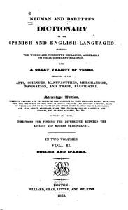 Neuman and Baretti s Dictionary of the Spanish and English Languages  English and Spanish PDF