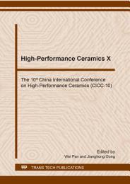 High-Performance Ceramics X