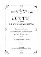 Złote myśli z dzieł J.I. Kraszewskiego