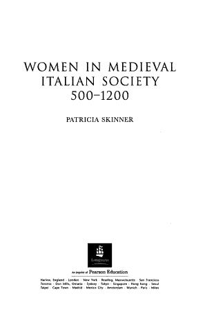 Women in Medieval Italian Society 500 1200 PDF