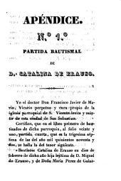 Historia de la monja alferez, Da. Catalina de Erauso