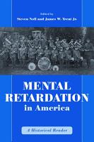 Mental Retardation in America PDF