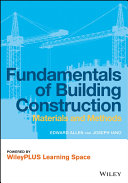 Fundamentals of Building Construction  Materials and Methods  6e WileyPlus Learning Space PDF