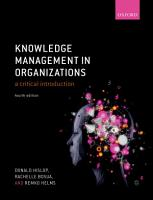 Knowledge Management in Organizations PDF