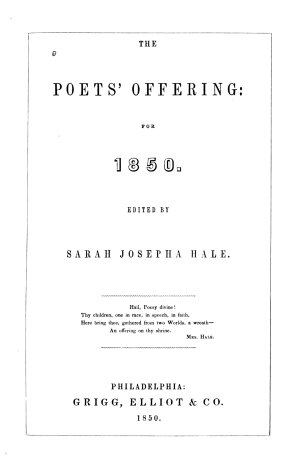 The Poets  Offering for 1850
