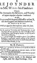 A Treatise of Baptism  wherein that of believers and that of infants is examined by the Scriptures  With the history of both out of antiquity     As also  the history of Christianity amongst the ancient Britains and Waldenses  And  a brief answer to Mr  Bunyan about communion with persons unbaptized     By H  D  i e  Henry Danvers PDF