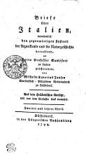 Briefe   ber Italien  vornehmlich den gegenw  rtigen Zustand der Arzneikunde und die Naturgeschichte betreffend an Prof  Sandifort zu Leyden geschrieben PDF