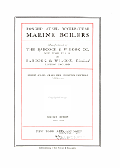 Forged steel water-tube marine boilers ...