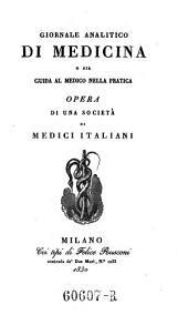 Giornale critico di medicina analitica, composte da una societa di medici italiani e compilato da Giovanni Strambio: Volume 13