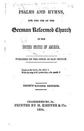 Psalms and Hymns, for the Use of the German Reformed Church in the United States of America