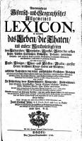 Neu vermehrtes Historisch  und Geographisches Allgemeines Lexicon0 PDF