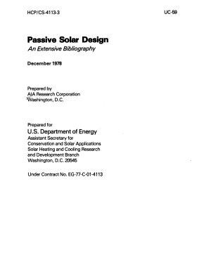 Passive Solar Design PDF