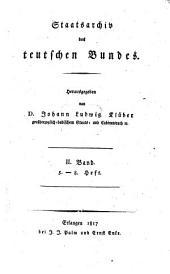 Staatsarchiv des teutschen Bundes: Band 2