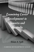 Examining Career Development in Jamaica and Australia PDF