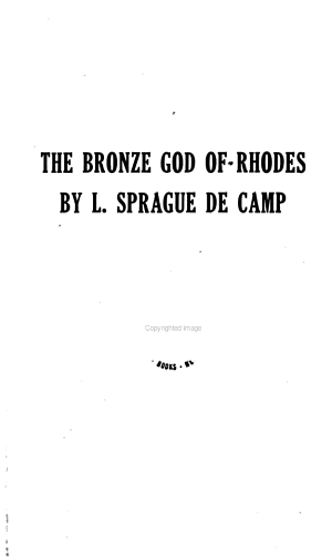 The Bronze God of Rhodes