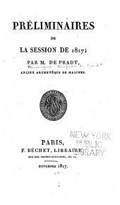 Préliminaires de la session de 1817
