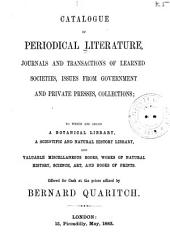Catalogue of Works on Natural History, Physics, Mathematics, and Other Sciences: Volume 3