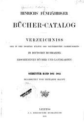 Hinrichs  Katalog der im deutschen buchandel erschienenen b  cher  zeitschriften  landkarten usw PDF