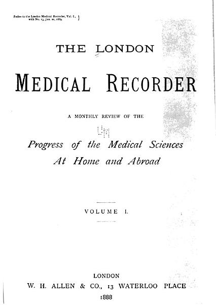 Download The London Medical Recorder Book