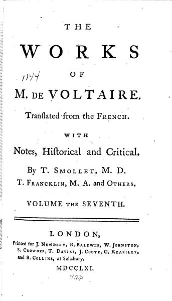Download The Works of M  de Voltaire  The age of Lewis XIV  chap  CLXXII CLXXXVI Book