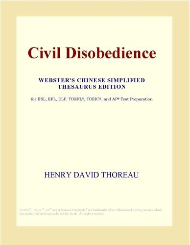Civil Disobedience  Webster s Chinese Simplified Thesaurus Edition  PDF