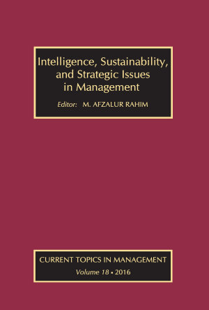 Intelligence  Sustainability  and Strategic Issues in Management PDF