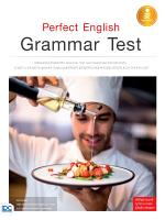 Perfect English Grammar Test PDF