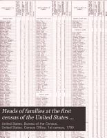 Heads of Families at the First Census of the United States Taken in the Year 1790     PDF